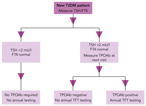 Fig 1. Thyroid function testing in patients with type 2 diabetes